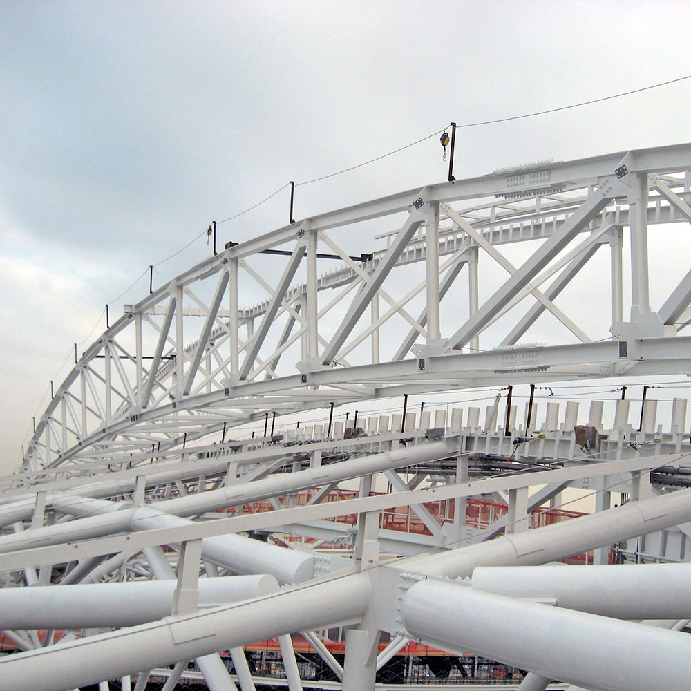 Roof structure of Arthur Ashe Stadium
