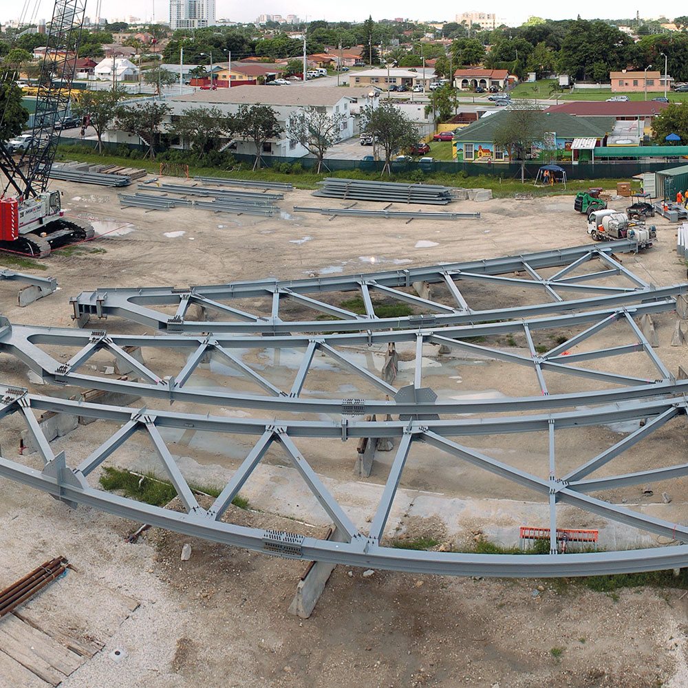 Marlins Park, Construction Site, Trusses, Steel, Acier