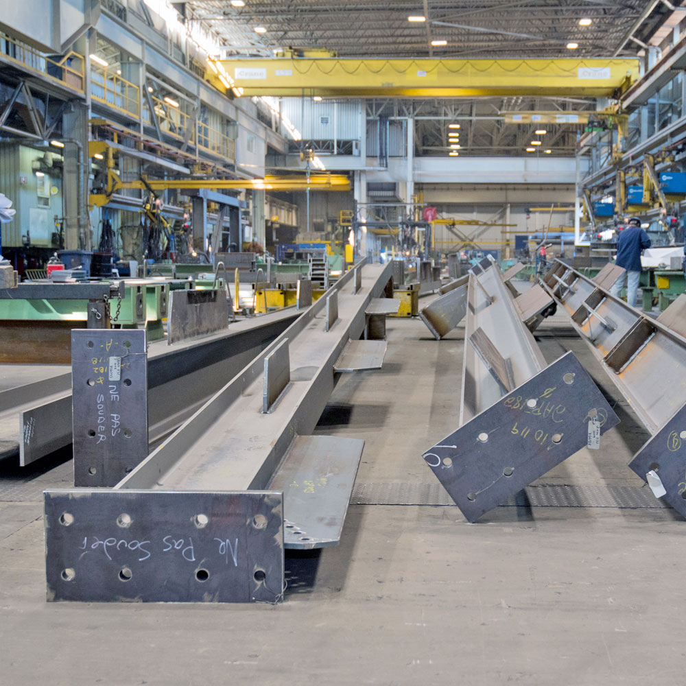 Fabrication, structures simple, usine, Simple Structure, plant, shop, steel, acier, canam, structure, structural